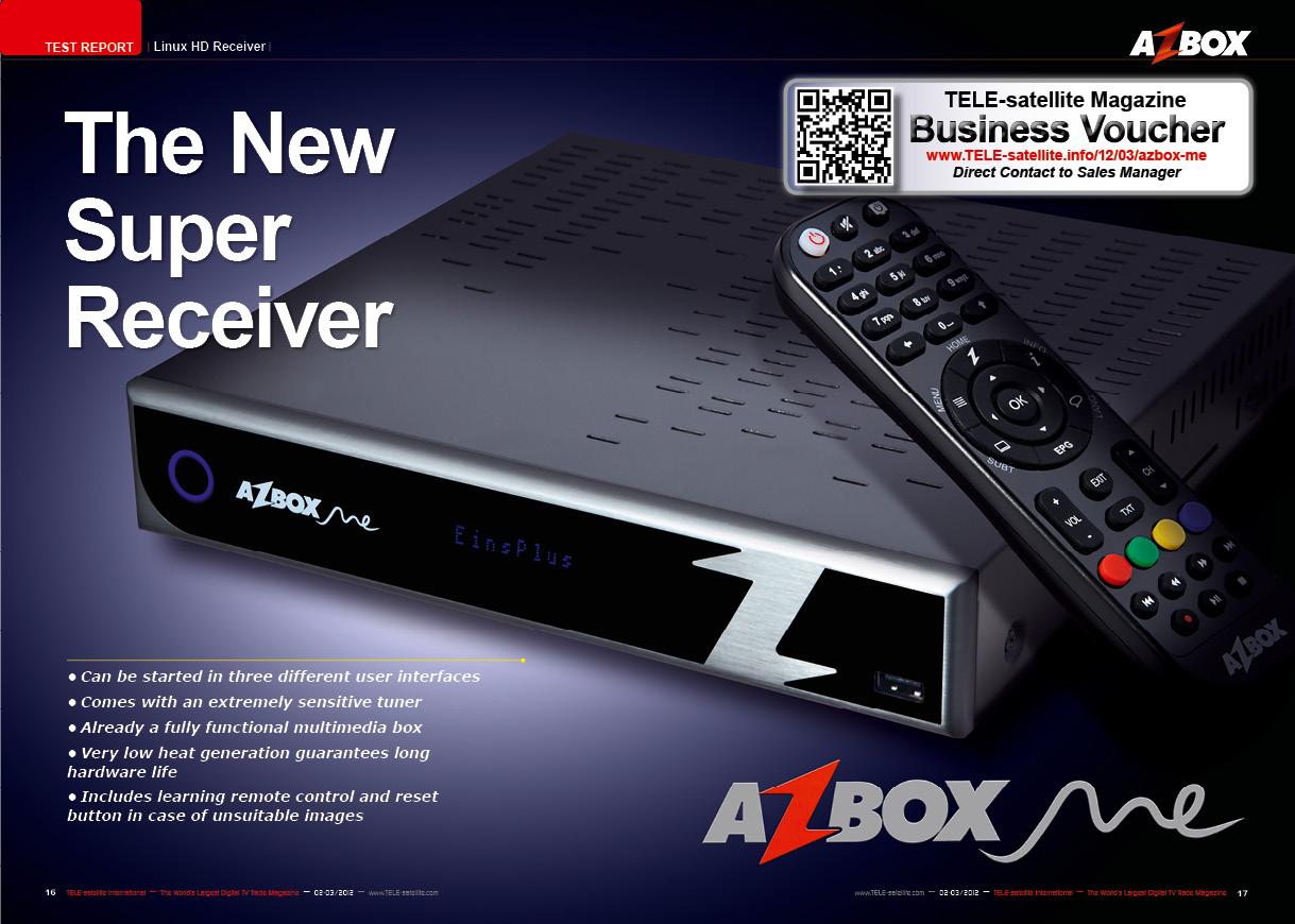 Disponibilizado nova atualização para o receptor Azbox Me.